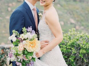 "For their romantic Easter-themed wedding, Uni	Choe and John Chen blended her Korean heritage with his Chinese ancestry. ""Last year, we both moved to K"
