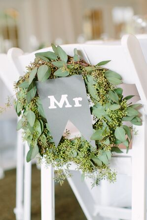 Decorative Eucalyptus Mr. and Mrs. Wreaths