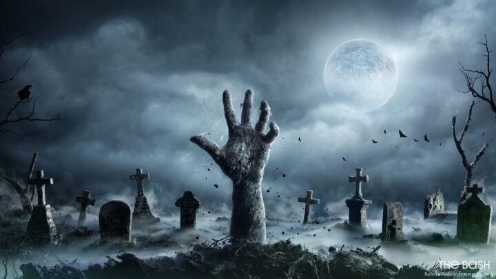 Zombie Zoom Background Halloween