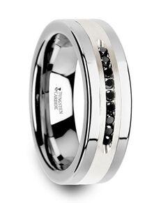 Mens Tungsten Wedding Bands SKU#W3925-TCSD Tungsten Wedding Ring