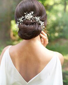 Dareth Colburn Lila Bridal Back Comb (TC-7017) Silver Pins, Combs + Clip