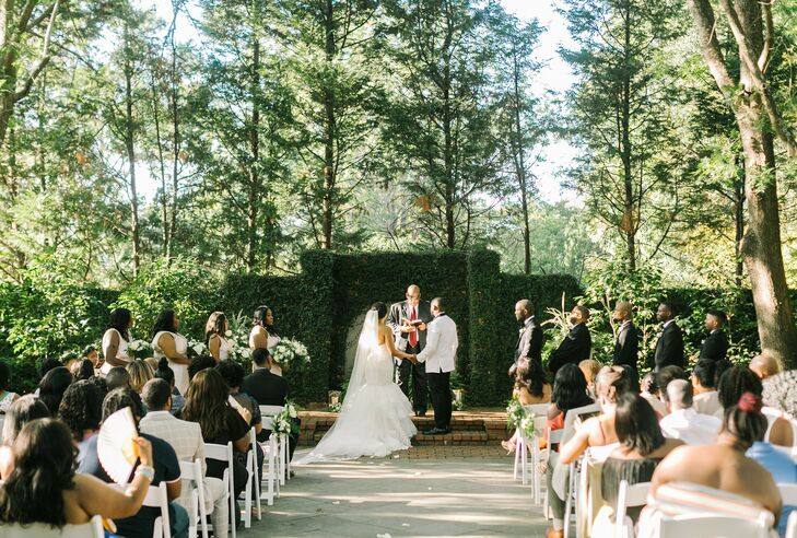 Garden Ceremony at The Lace House in Columbia, South Carolina