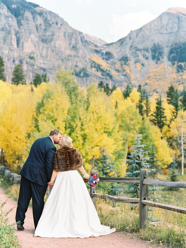 """We were in arguably the most beautiful place on earth,"" Margaret says of her mountaintop ceremony on San Sophia Overlook in Telluride, Colorado."