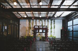 Modern Industrial Loft Ceremony