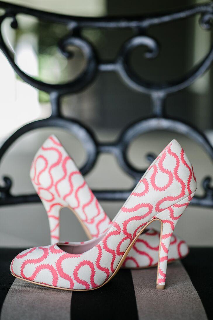 Modern Geometric Bridal Shoes