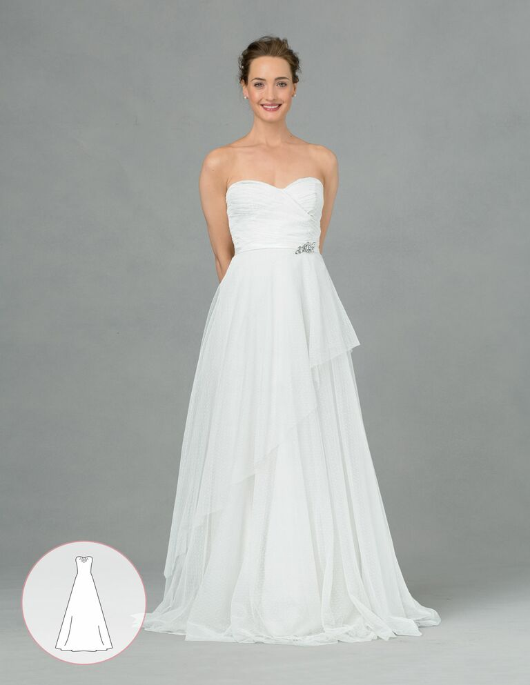 Your ultimate guide to wedding dress silhouettes a line wedding dress junglespirit Choice Image