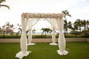 Romantic Chiffon Ceremony Arch