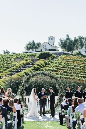 Romantic Outdoor Vineyard Ceremony in California