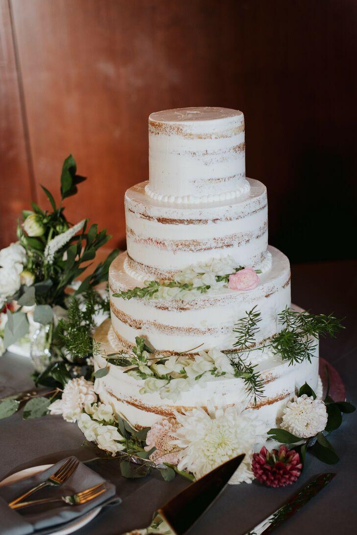 Naked Cake for Wedding at Prisidio Golf Course in San Francisco, California