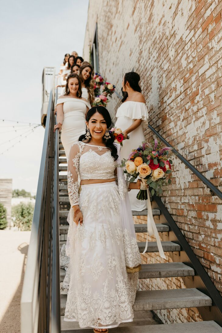 Bride and Bridesmaids Taking Wedding Portraits