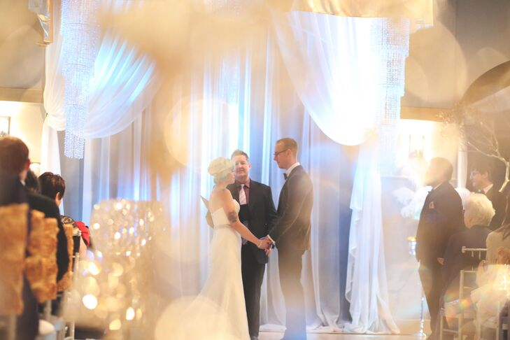 """""""Our ceremony completely reflected us as a couple—we are Spirit led, Spirit filled and God was definitely in charge of our ceremony,"""" says Jana. """"Caleb said a separate set of vows to our son, Cash and there was not a dry eye in the room!"""""""