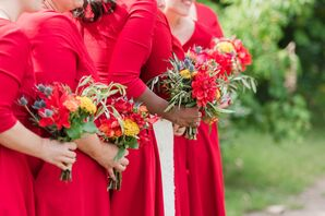 Colorful, Affordable Red Bouquets