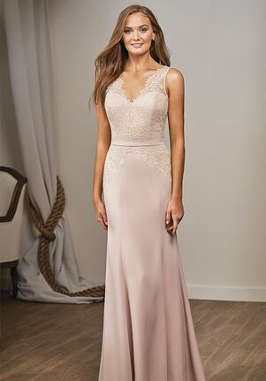 Belsoie Bridesmaids by Jasmine L204016 V-Neck Bridesmaid Dress