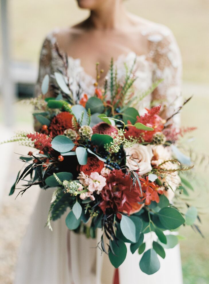 Cascading Romantic Autumnal Bouquet