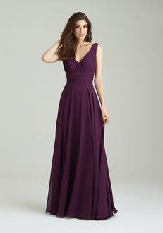 Allure Bridesmaids 1455 V-Neck Bridesmaid Dress