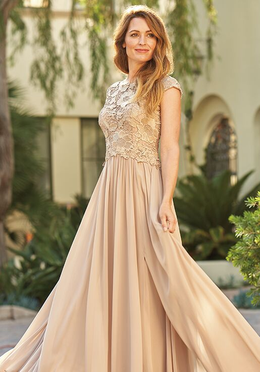 Jade Mother of the Bride by Jasmine J205061 Gold Mother Of The Bride Dress