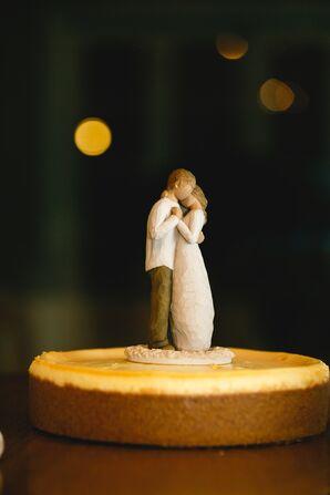 Wooden Romantic Figurine Cake Topper