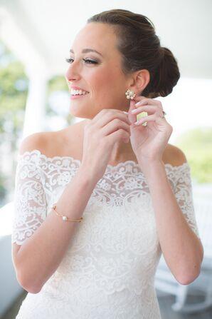 Off-the-Shoulder Lace Wedding Dress