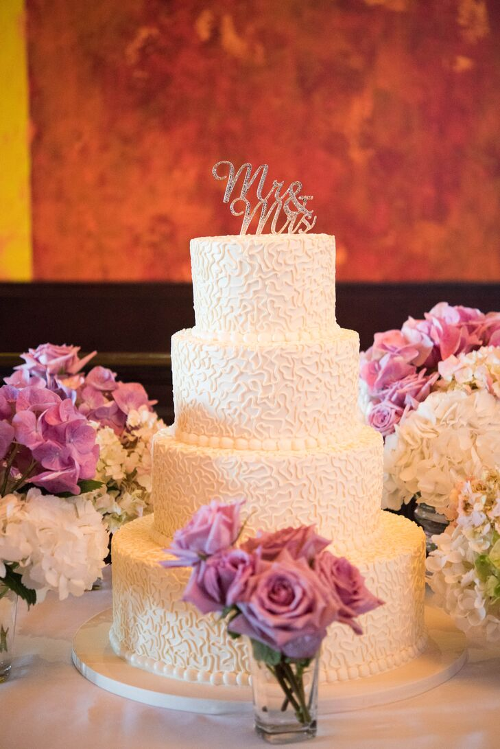 Oak Mill Bakery created this four-tier confection made from vanilla cake, frozen custard and fresh strawberries.