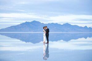 Heather and Ethen on Bonneville Salt Flats