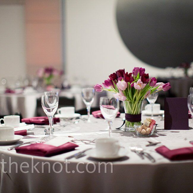 Tremendous Purple Tulip Centerpieces Download Free Architecture Designs Estepponolmadebymaigaardcom