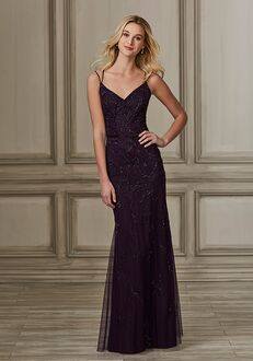 Adrianna Papell Platinum 40148 V-Neck Bridesmaid Dress