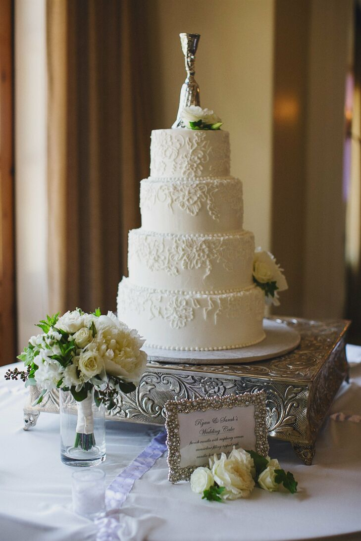 Wedding Cake with Detailed Piping