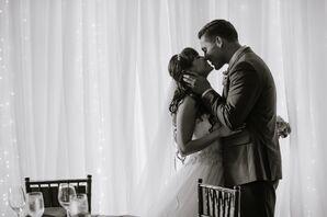 Bride and Groom at Romantic Scottsville Wedding