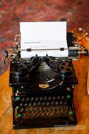 Vintage Typewriter Decoration