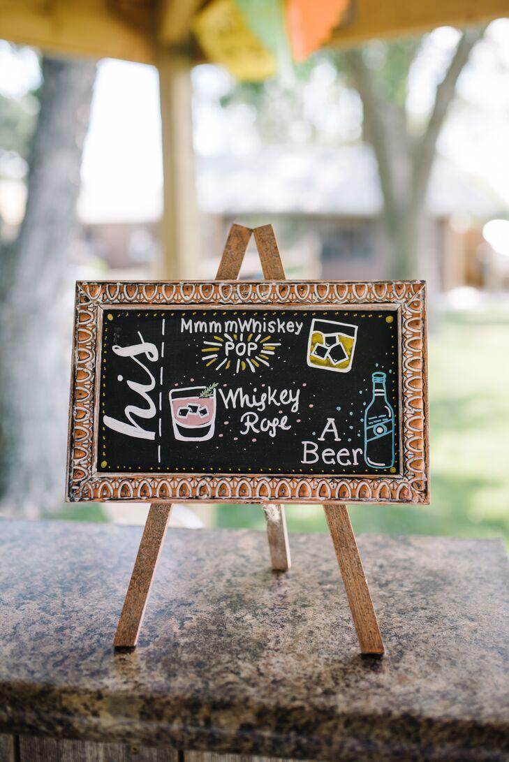 Illustrated Chalkboard Bar Menu