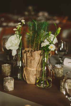 Sapling and Wildflower Centerpieces