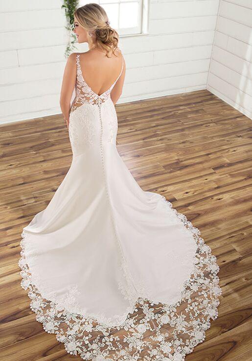 Essense of Australia D2832 Mermaid Wedding Dress