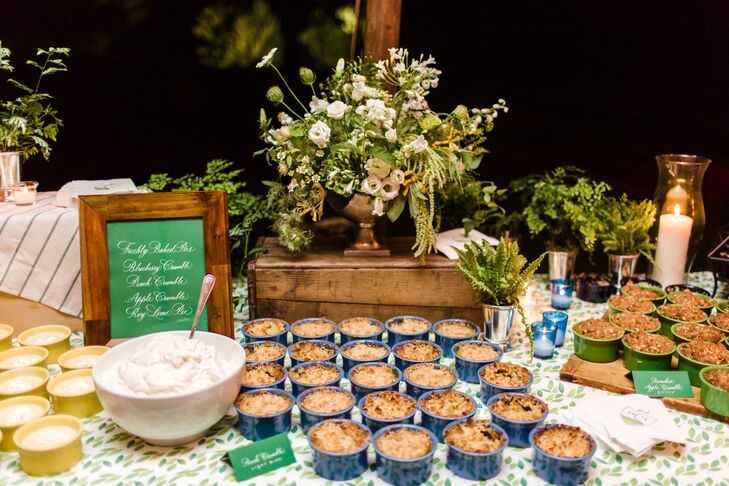 Dessert Table with Mini Pies