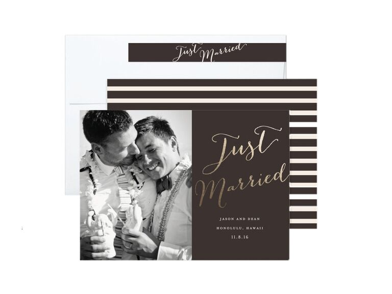 Eric Clegg Just Married wedding announcement