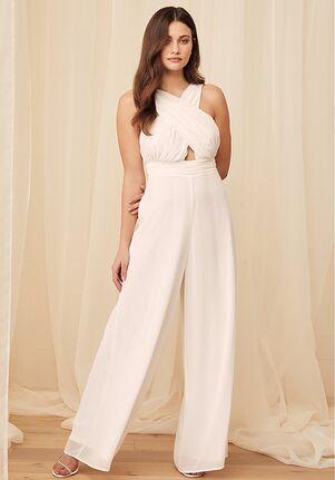 Lulus Forever Is Here White Halter Jumpsuit Wedding Dress