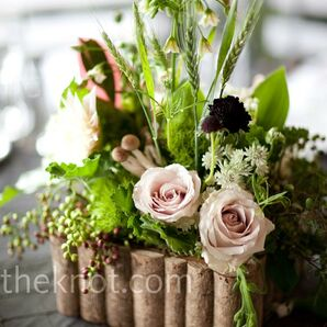 Forest-Themed Floral Centerpieces