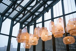 Modern Hanging Lanterns at The Asbury Hotel