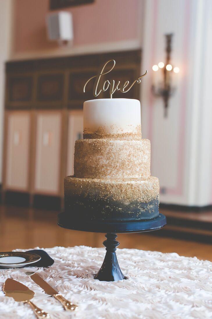 Navy And Gold Zingerman S Wedding Cake