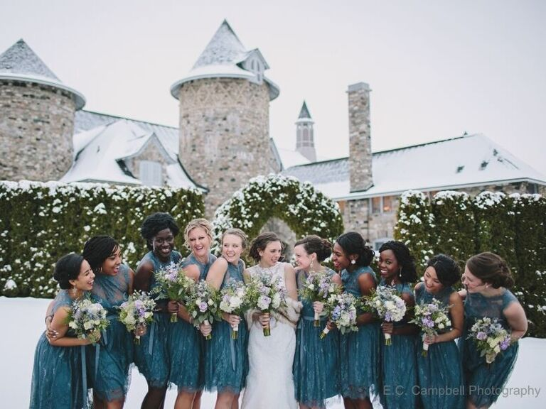 Winter wedding venue in Charlevoix, Michigan.