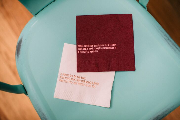 Humorous, Personalized Cocktail Napkins