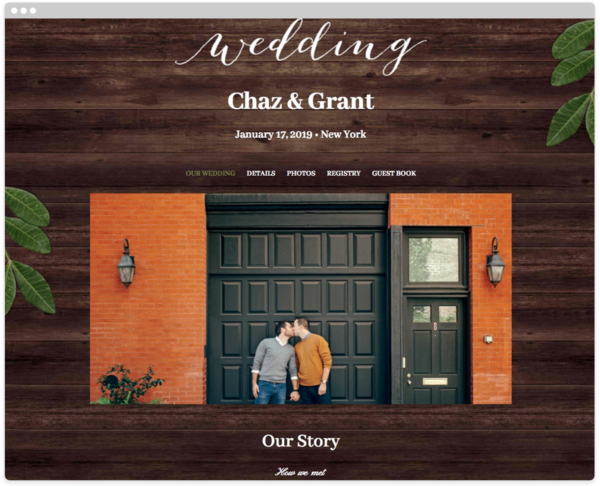 Ingrained Love Wedding Website Template, The Knot