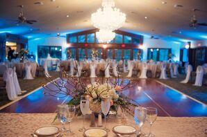 Chandelier Centered Indoor Reception
