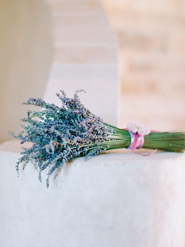 Wedding bouquet made with herbs