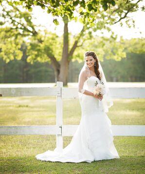Strapless Paloma Blanca Wedding Dress