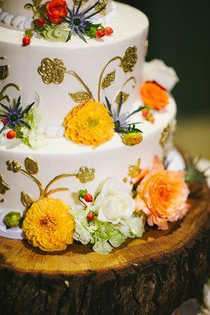 Earth-Tone Fall-Inspired Wedding Cake