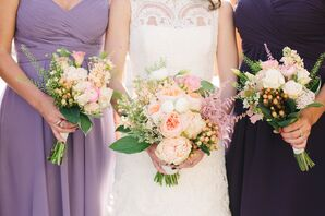 Hypericum Berry and Garden Rose Bouquets