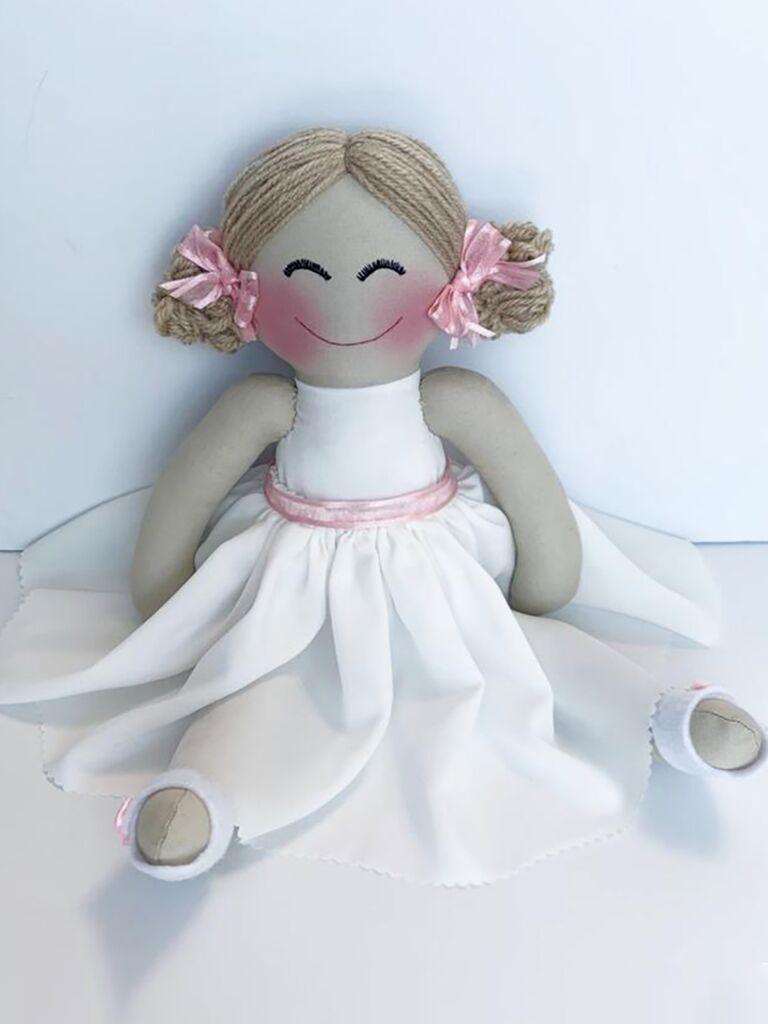 Rag doll flower girl gift