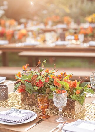 rustic red centerpieces | She Wanders | blog.theknot.com