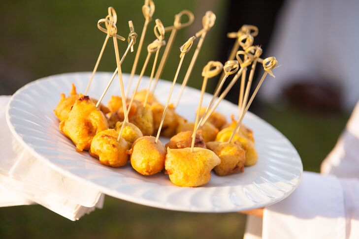 Fried Passed Appetizers in Toothpicks