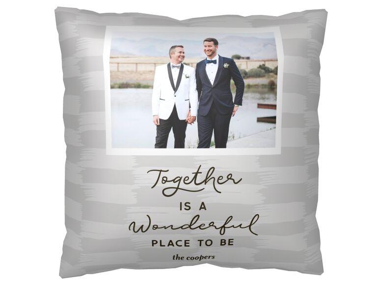 Custom pillow photo gift idea
